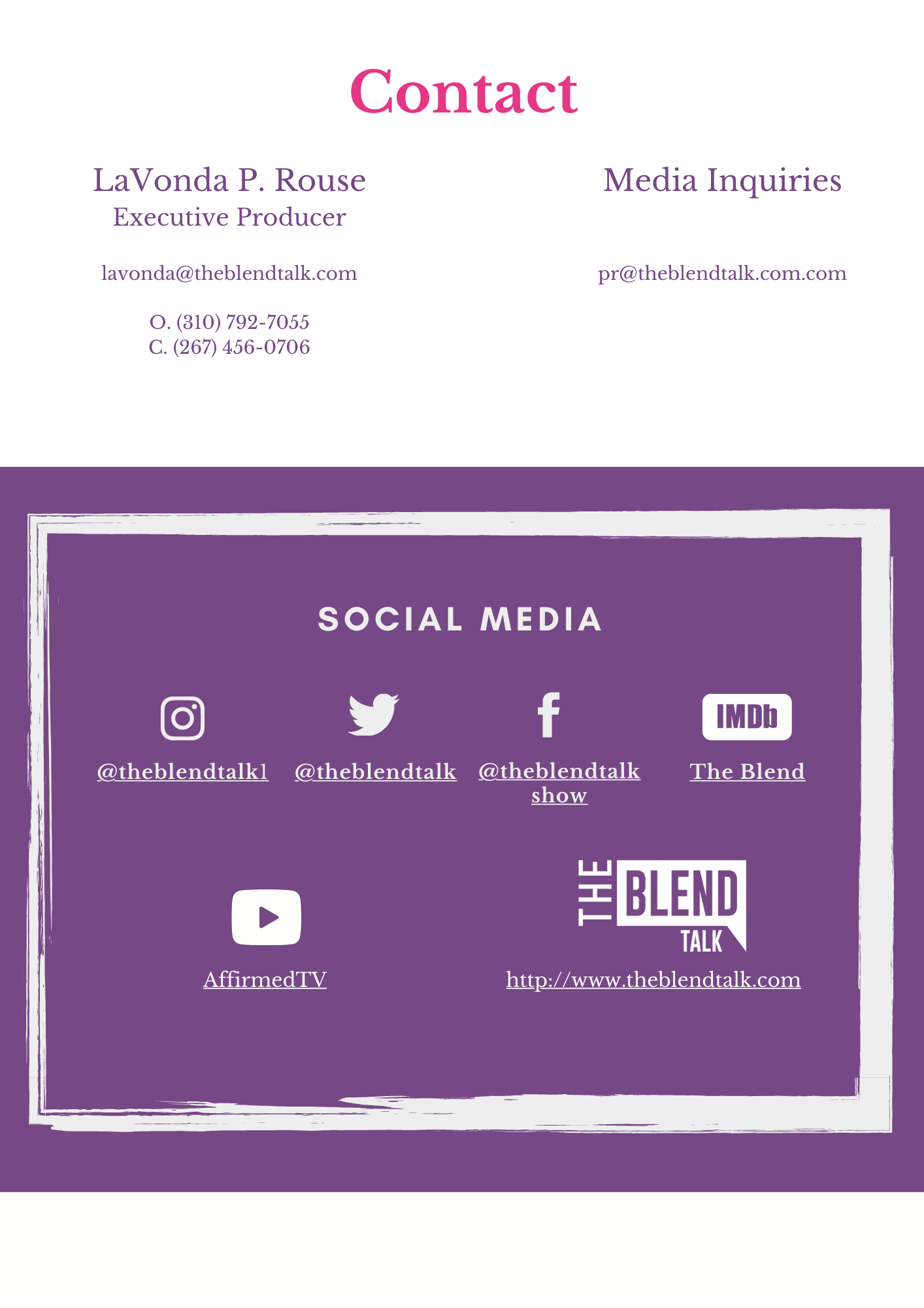 The Blend Talk Media Kit